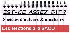 Les élections au conseil d'administration de la SACD